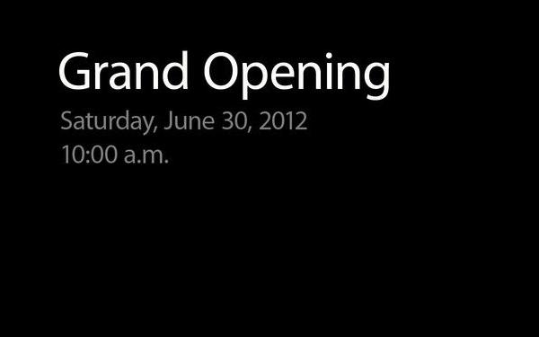 Banner para abertura de lojas Apple