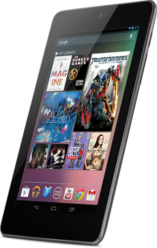 Tablet Nexus 7, do Google e da ASUS