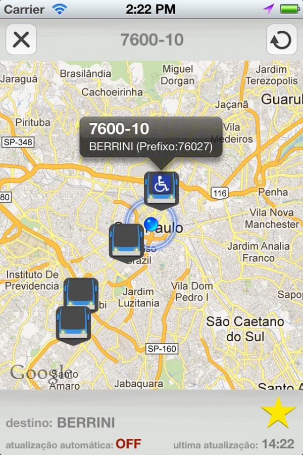 Onde está meu ônibus - iPhone