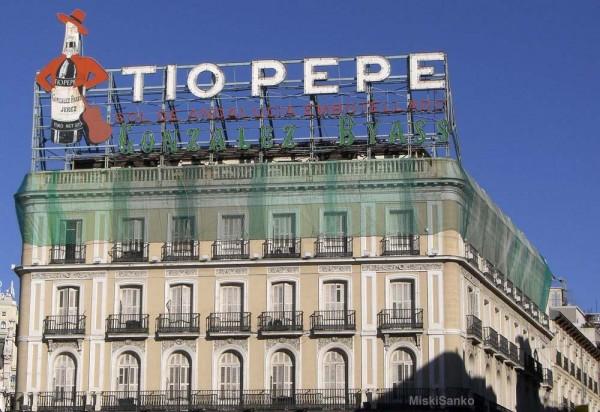 """Placa de publicidade do """"Tio Pepe"""""""