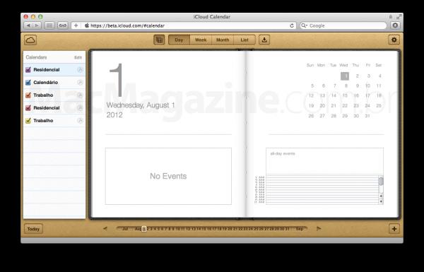 iCloud.com - Calendário