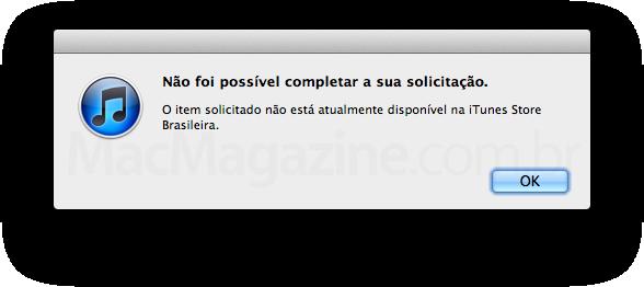 App indisponível na loja brasileira