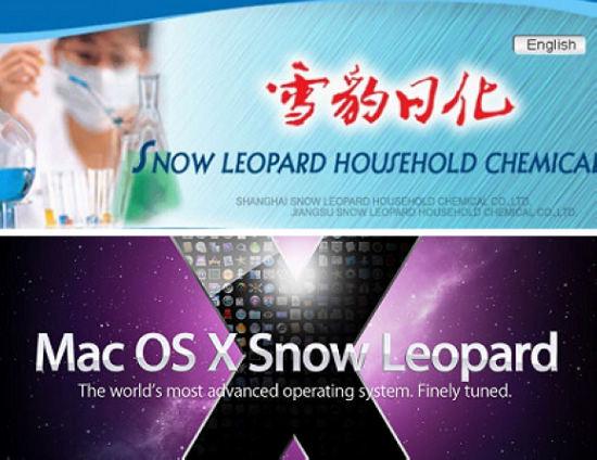 Marca Snow Leopard na China