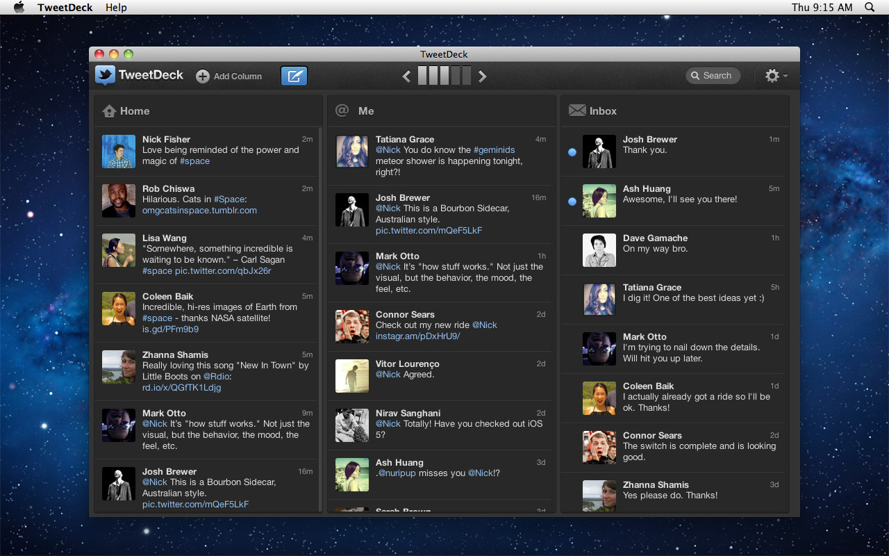 TweetDeck no OS X