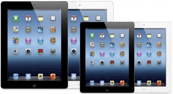 """iPad e """"iPad mini"""" lado a lado"""
