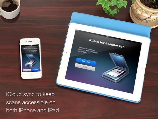 Scanner Pro com iCloud