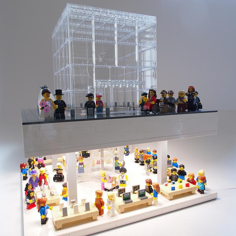 Apple Store, Fifth Avenue feita com LEGO