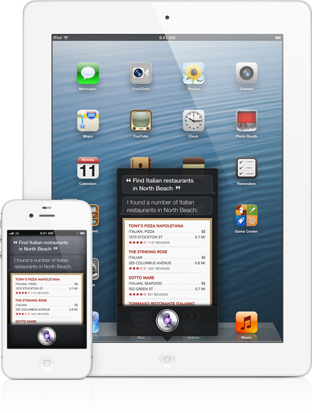 Siri rodando em iPad e iPhone
