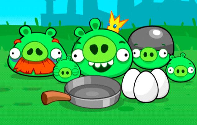 Porcos verdes de Angry Birds