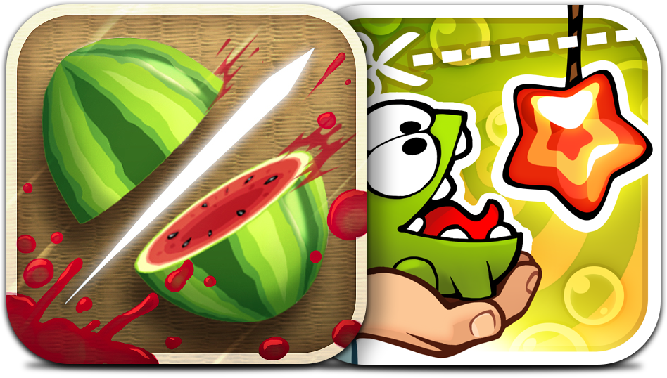 Ícones - Fruit Ninja e Cut the Rope: Experiments