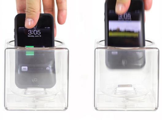 Cube com iPhone