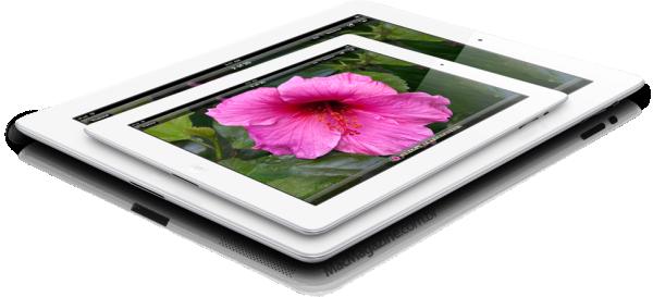Mockup de iPad mini em cima do maior (by MacMagazine)