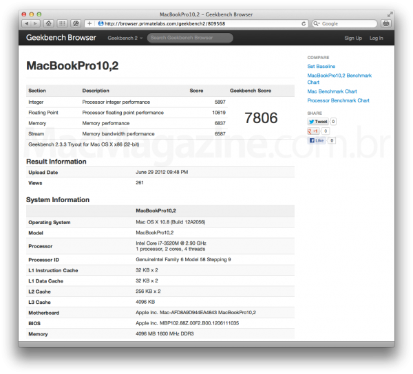 Geekbench do novo MBP 13 Retina?