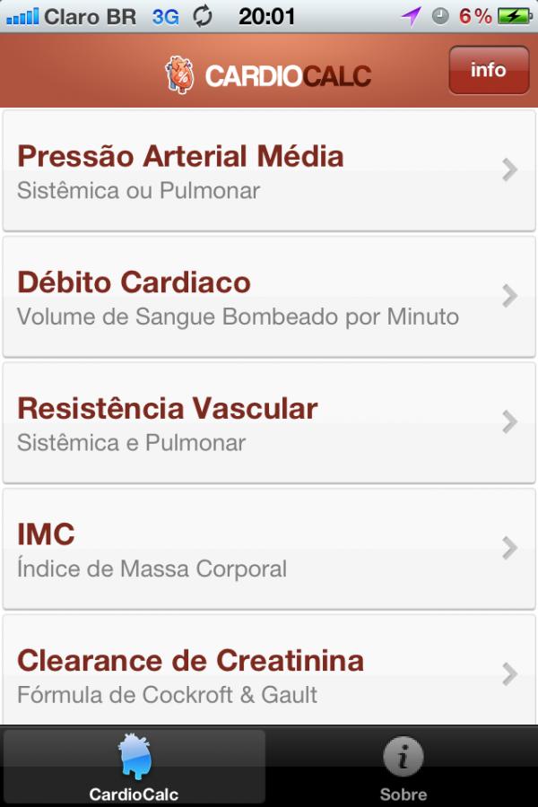 Azklepio CardioCalc - iPhone