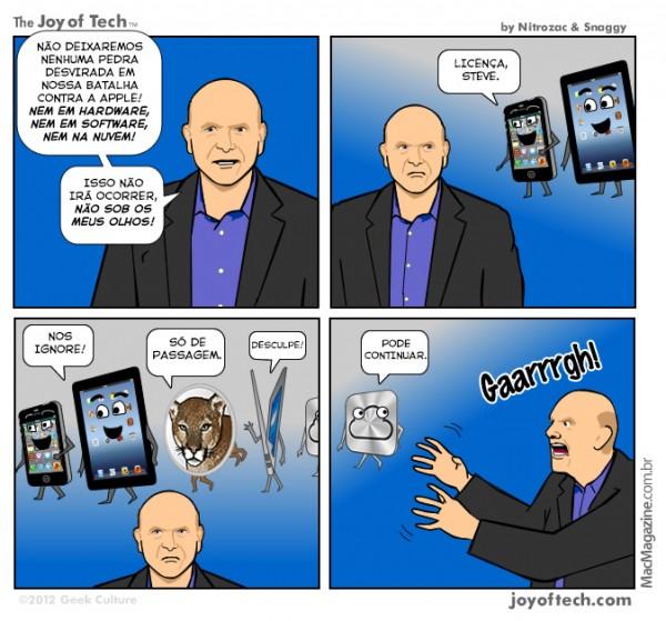 Joy of Tech - Não sob o olhar de Ballmer!