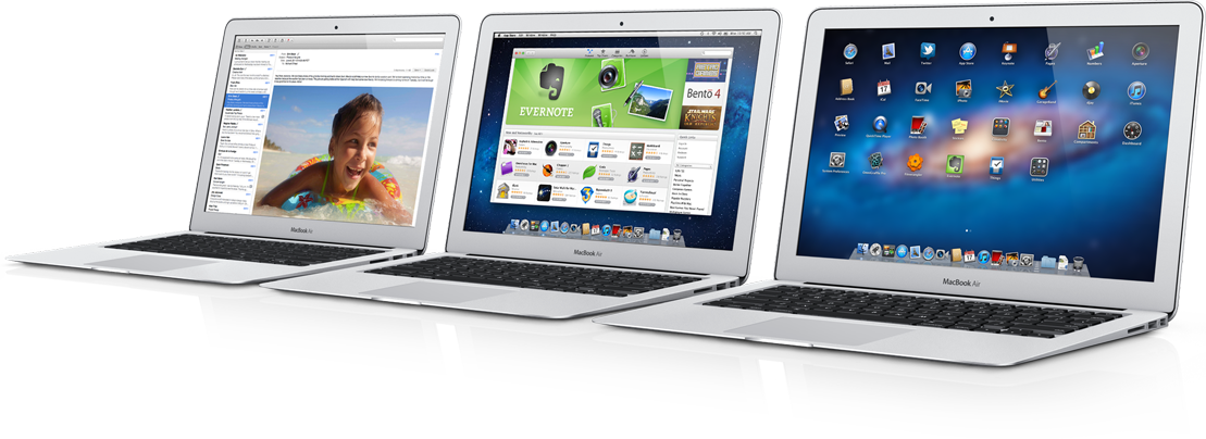 MacBooks Air enfileirados