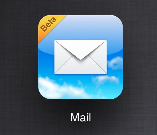 Webapp do Mail, no iCloud