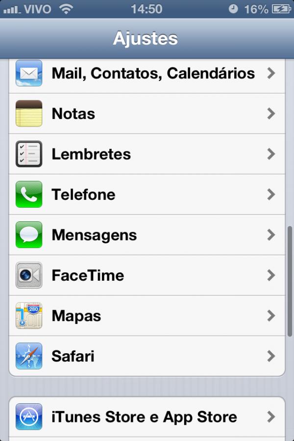 Configurações de mapas no iOS 6 beta 3