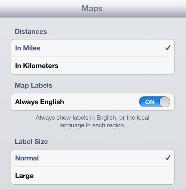 Mapas no iPad com iOS 6 beta 3