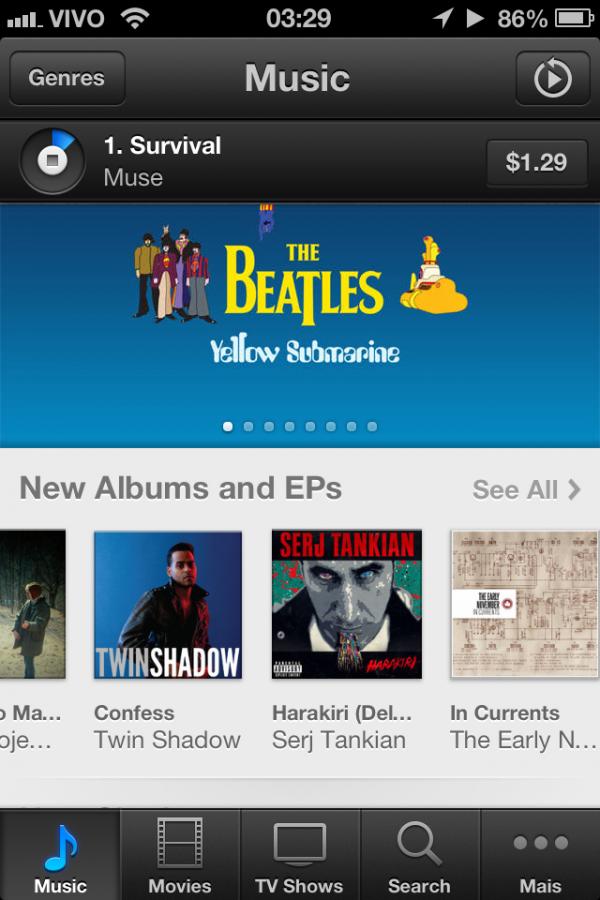 Música no iOS 6