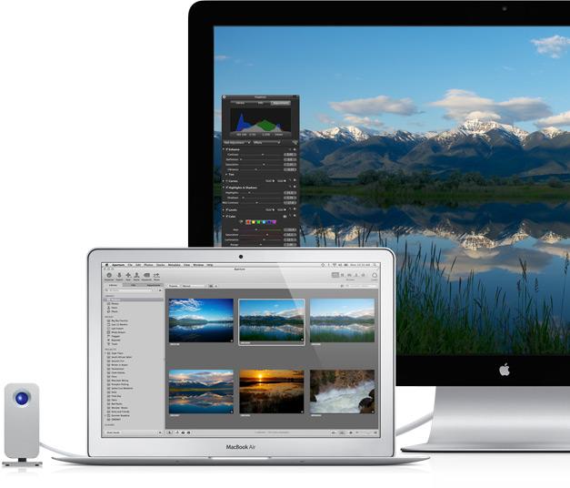 MacBook Air com Thunderbolt Display
