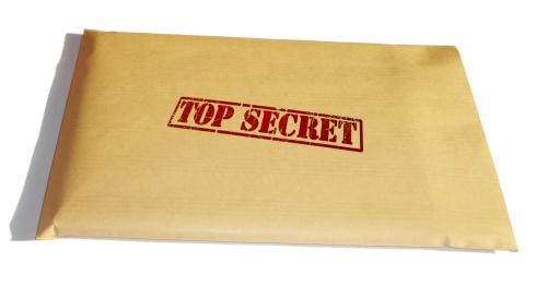 Pasta com documentos sigilosos (top secret)