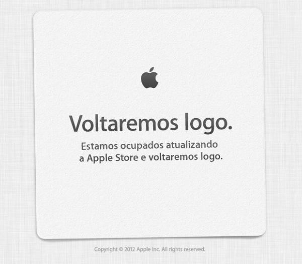 Aviso da Apple Online Store