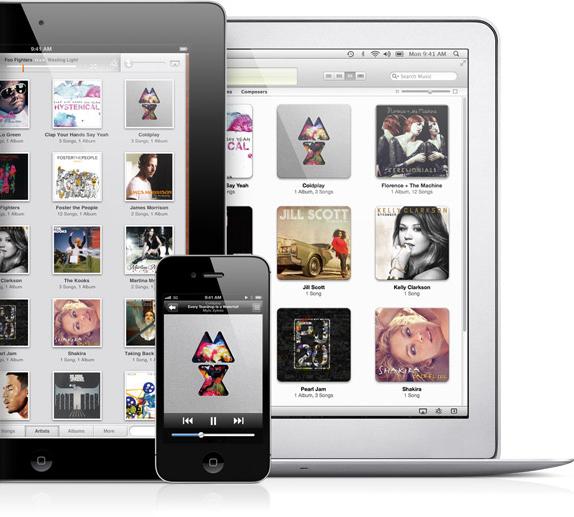 iTunes Match em iPad, iPhone e MacBook Air