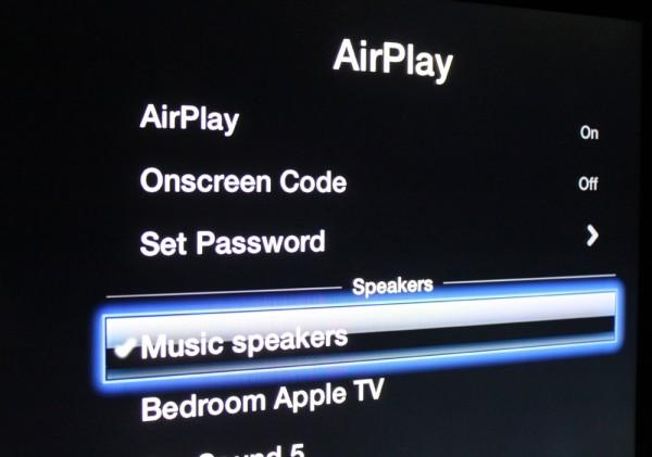 Apple TV enviando áudio via AirPlay no iOS 6