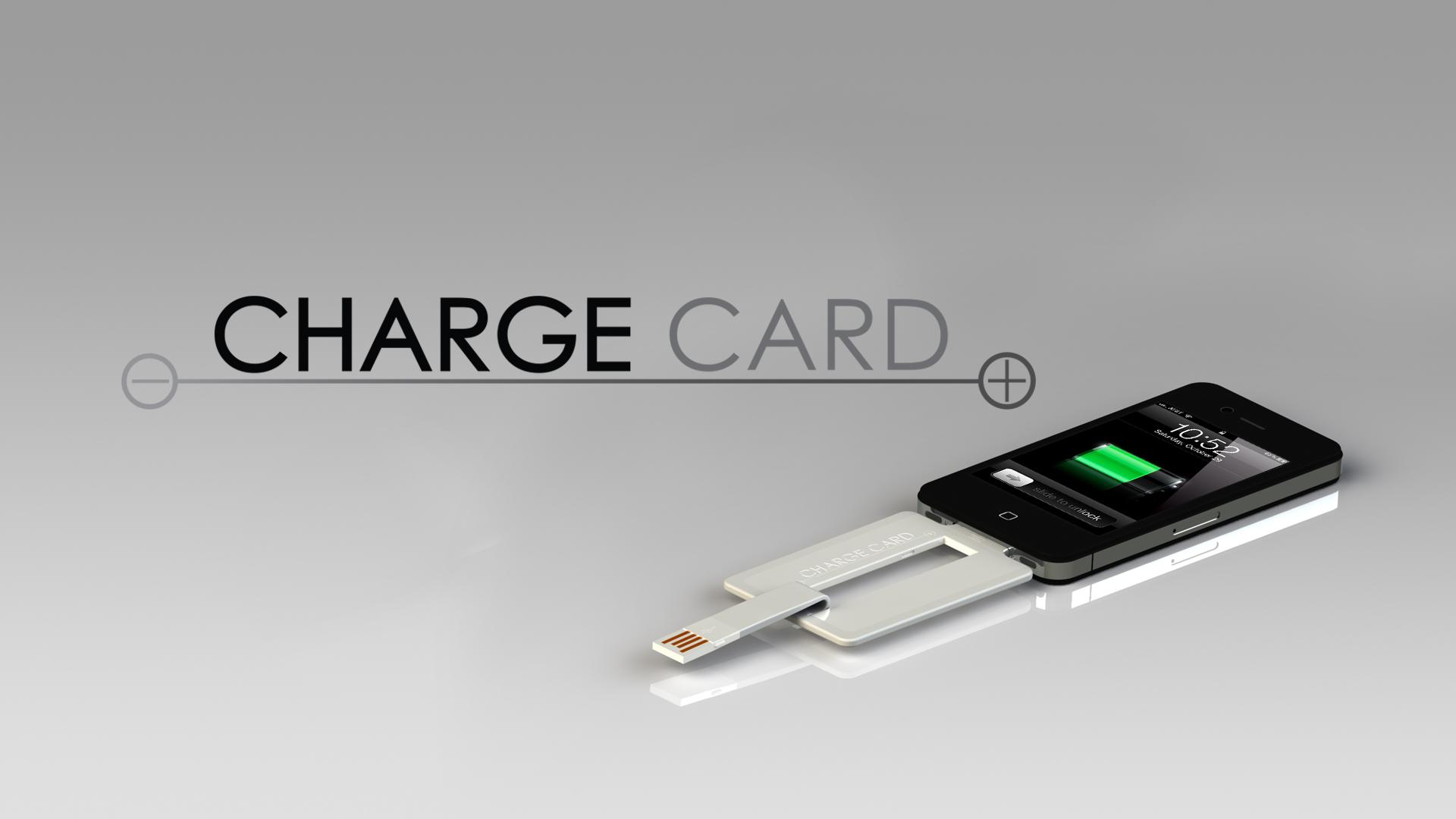 ChargeCard com iPhone