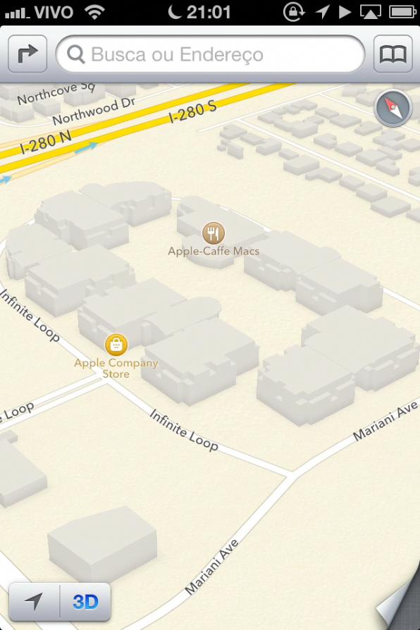 Mapas em 3D no iOS 6