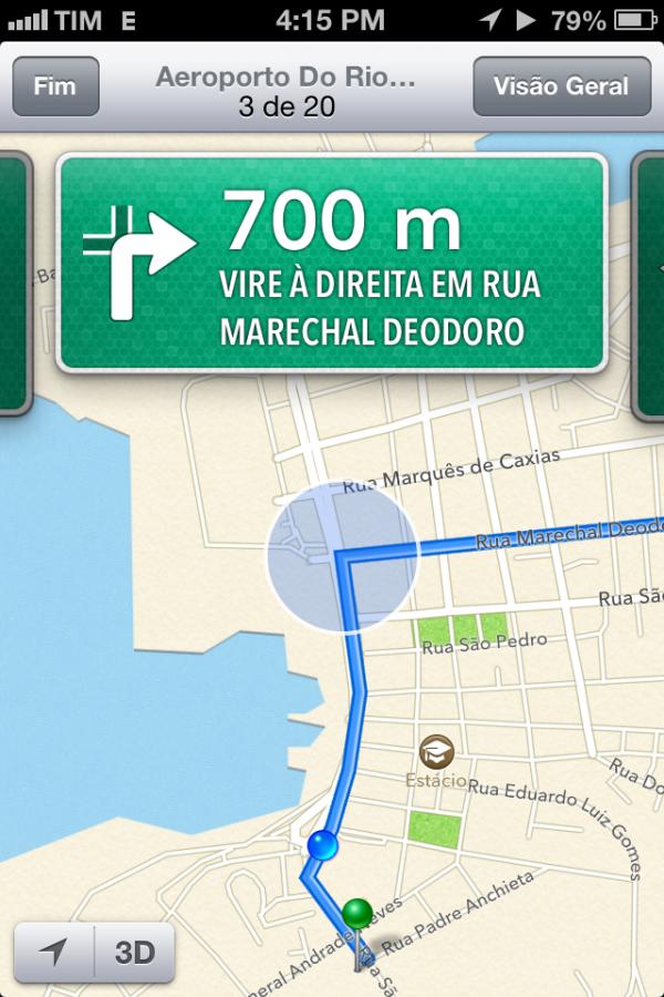 Direções no iOS 6