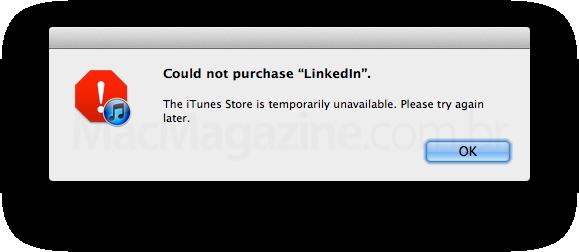 Erro na App Store