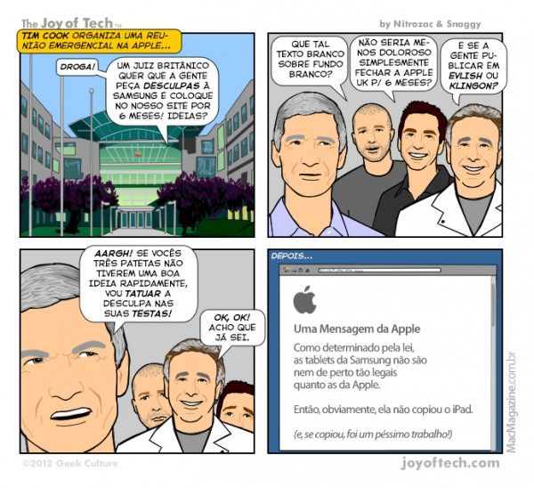 Joy of Tech - Um pedido de desculpas da Apple