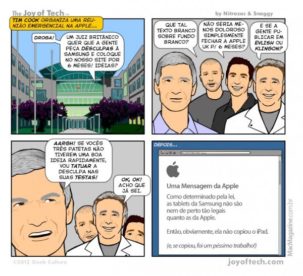 Joy of Tech - Um pedido de desculpas da Apple