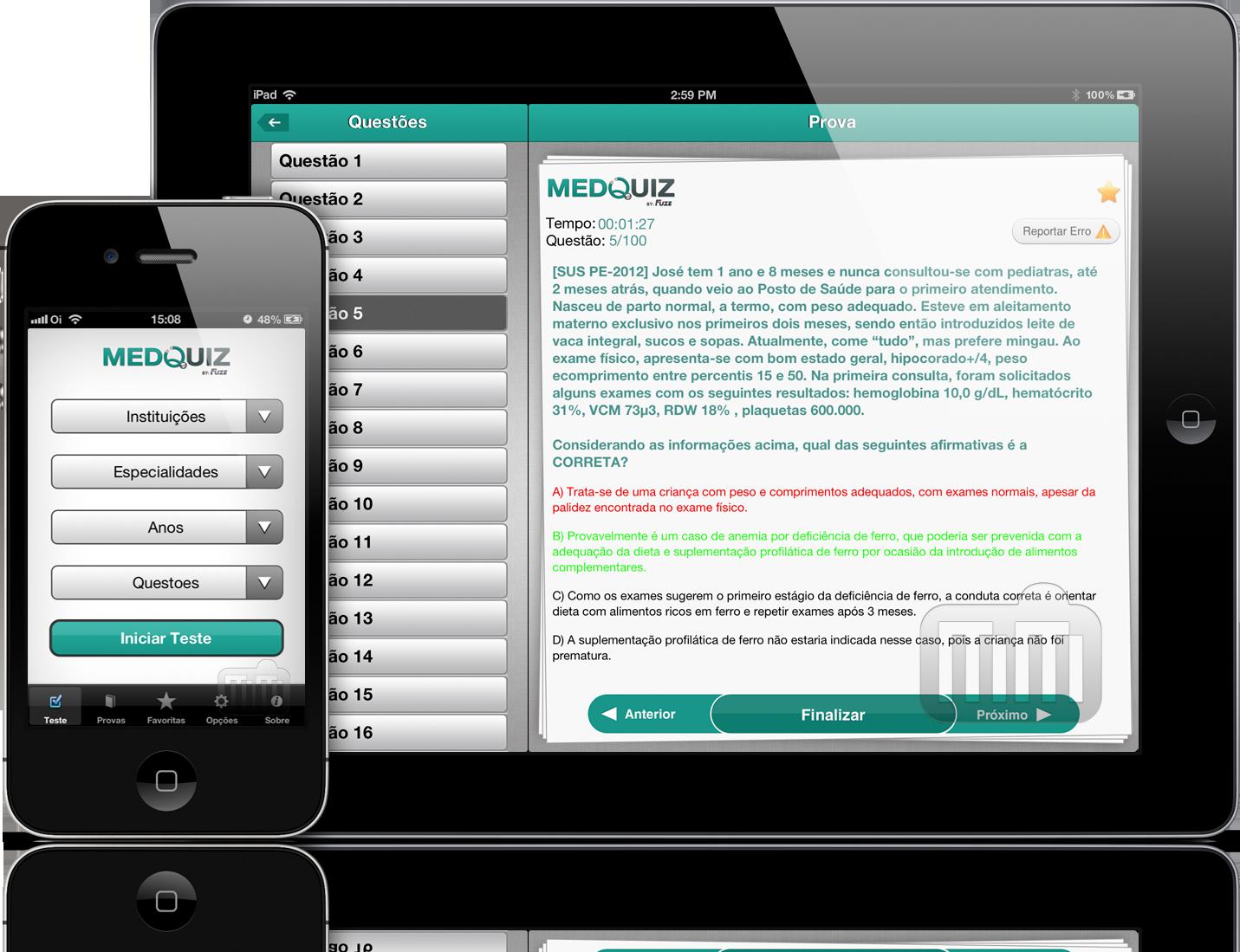 MedQuiz - iPad e iPhone