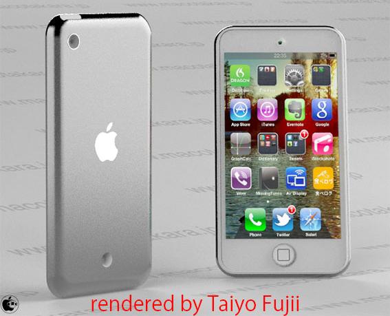 Mockup do novo iPod touch