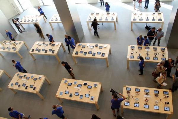 Foto da Apple Store, Passeig de Gràcia em Barcelona