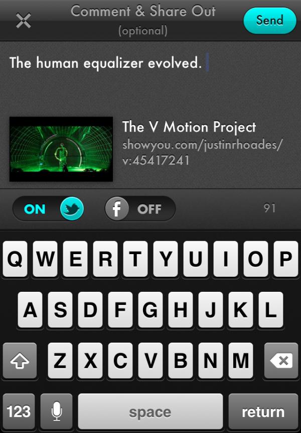 Showyou 3.3 no iPhone
