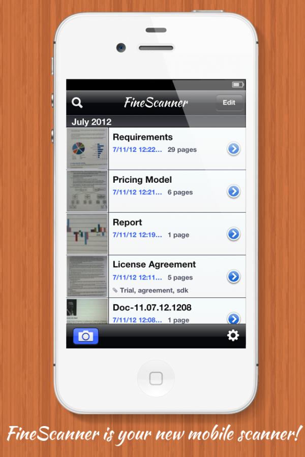 ABBYY FineScanner - iPhone