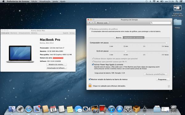 Power Nap no MacBook Pro Retina