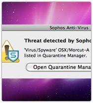 Sophos - malware Morcut