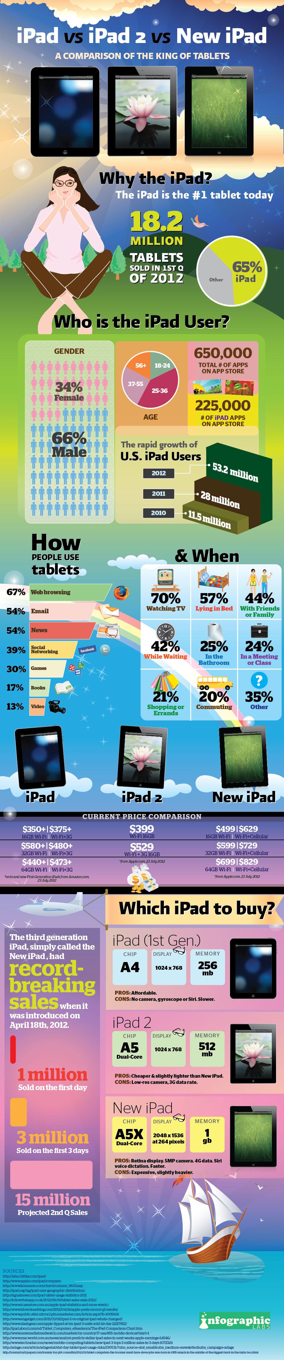 Infográfico sobre iPads