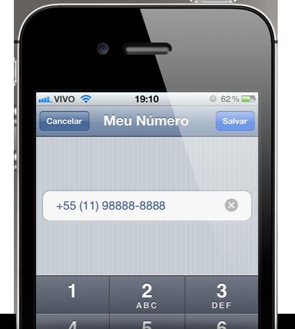 Alterando número de telefone no iPhone