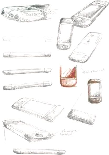 Rascunhos do primeiro iPhone