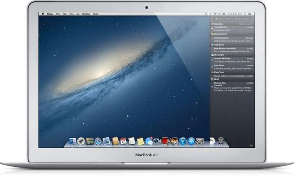 OS X Mountain Lion (Central de Notificações) rodando em MacBook Air