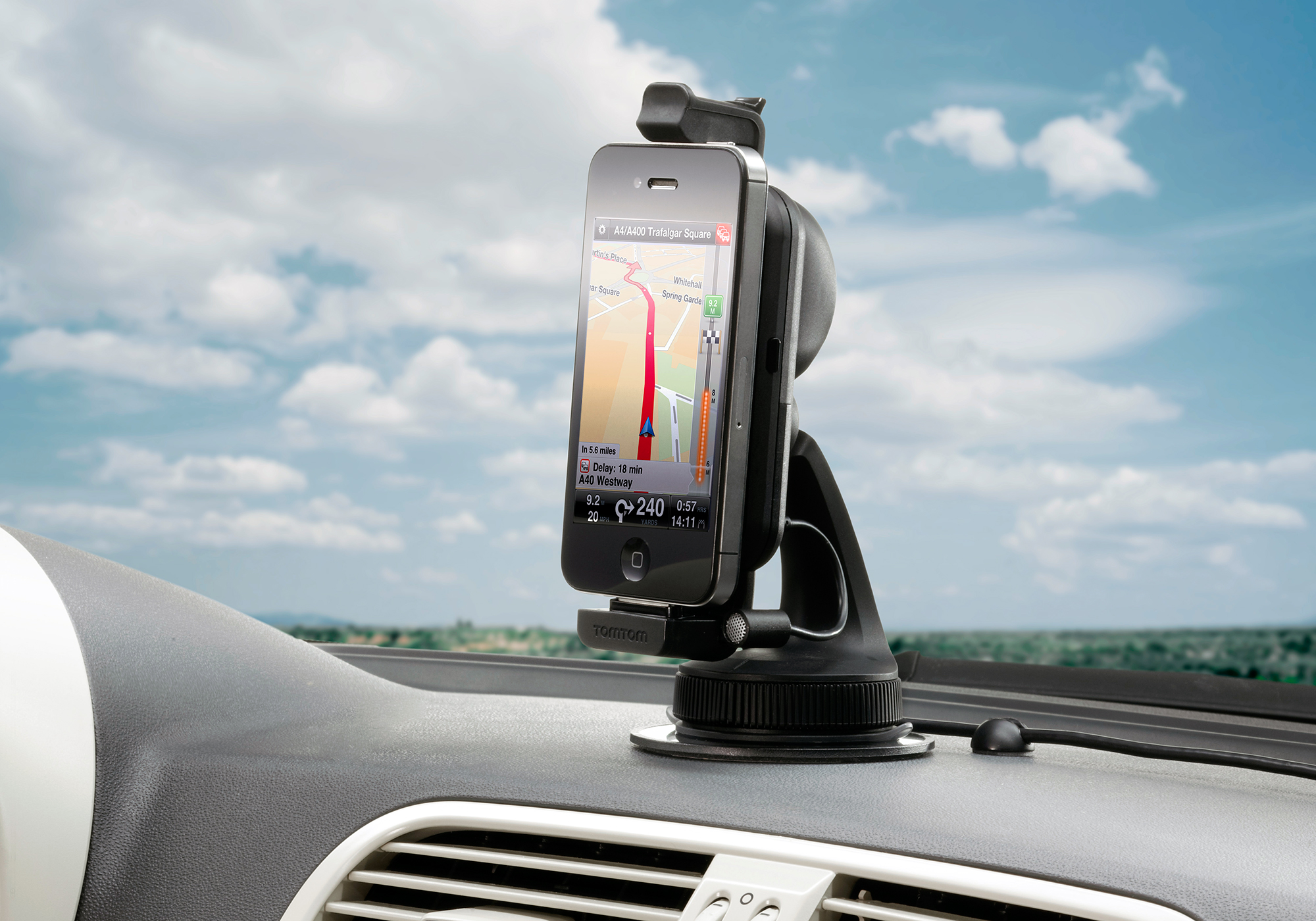 Novo TomTom Hands-Free Car Kit com iPhone