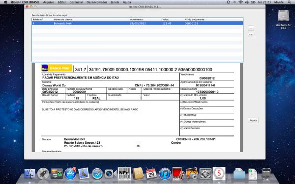 iBoleto CNR Brasil - Mac