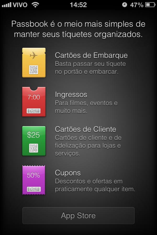 Passbook no iOS 6 beta 4