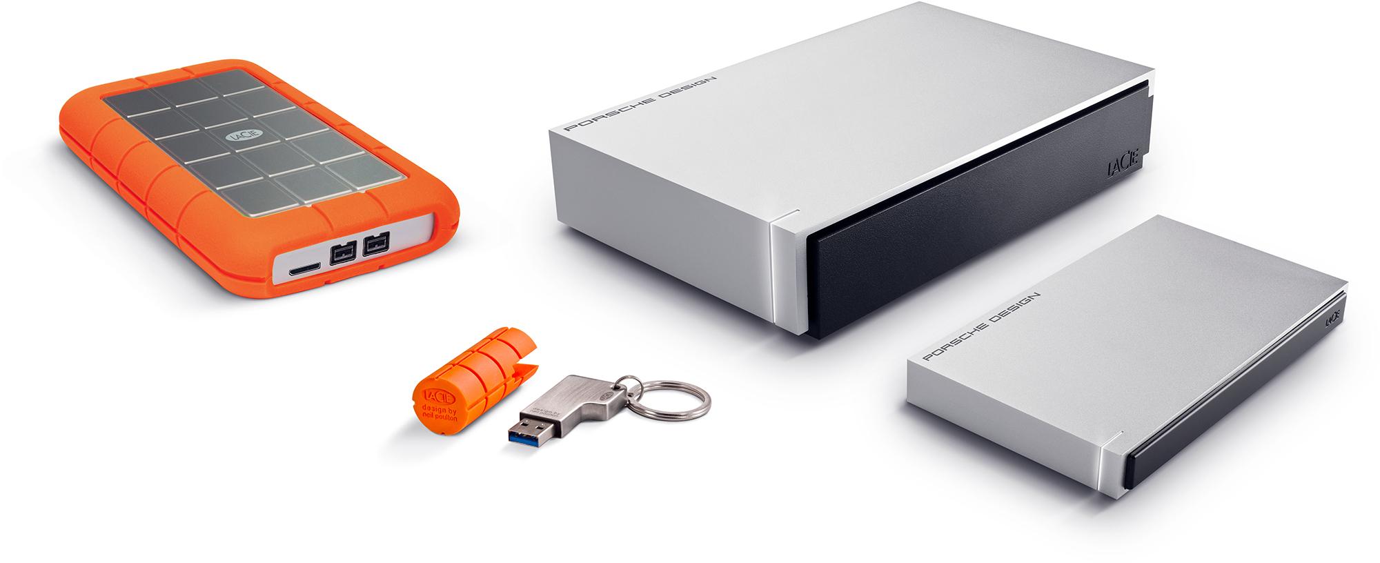 HDDs da LaCie com USB 3.0